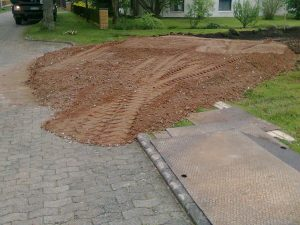 Erdarbeiten, Baustraße, Baustrasse
