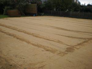 Erdarbeiten, Sandplatte, Bodenplatte